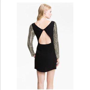 NWT Parker Sequin Sleeve Cutout Combo Dress